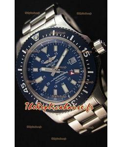 Montre Breitling SuperOcean44 Suisse en acier spécial Couleur Bleu Marin avec bracelet en acier Réplique