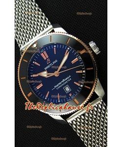 Montre Breitling SuperOcean HeritageII B20 44mm Cadran noir 44mm Lunette bicolore Réplique à l'identique 1:1