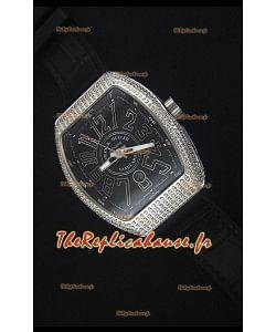 Franck Muller Vanguard Montre Réplique Suisse avec boîtier en Acier Inoxydable