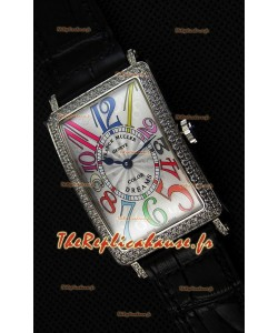 Franck Muller Long Island Color Dreams Montre réplique suisse pour dames — Bracelet noir