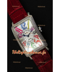 Franck Muller Long Island Color Dreams Montre réplique suisse pour dames — Bracelet rouge