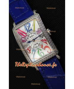 Franck Muller Long Island Color Dreams Montre réplique suisse pour dames — Bracelet bleu