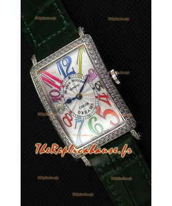Franck Muller Long Island Color Dreams Montre réplique suisse pour dames — Bracelet vert
