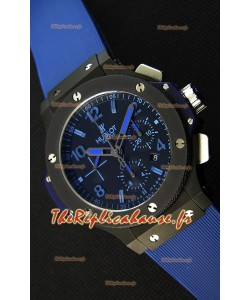 Montre Big Bang All Black PVD Blue Suisse Réplique à l'identique 1:1