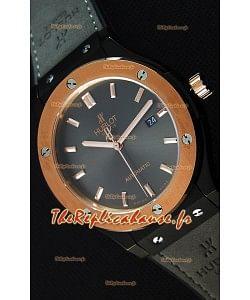 Montre Hublot Classic Fusion Suisse en céramique Cadran gris or optimisé Réplique à l'identique 1:1