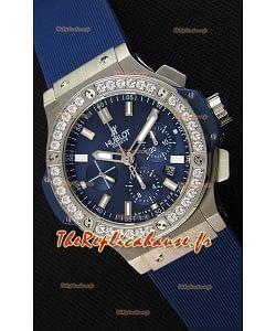 Montre Hublot Big Bang Blue Suisse Cadran bleu acier Réplique à l'identique 1:1