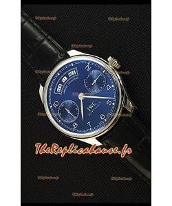 IWC Portugieser Annual Calender Midnight Beu IW503502 Montre Réplique 1:1 Miroir