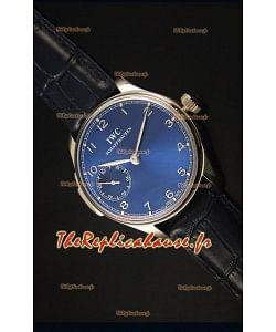 Montre Suisse Miroir à Cadran Bleu 1:1 IWC Remontage Manuel Portufais Ref# IW5242