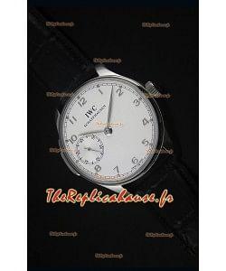 Montre Suisse Miroir à Cadran Blanc 1:1 IWC Remontage Manuel Portufais Ref# IW5242