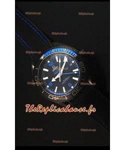 Omega Seamaster Planet Ocean Deep Black Blue GMT - Edition 1:1 Montre Réplique Suisse