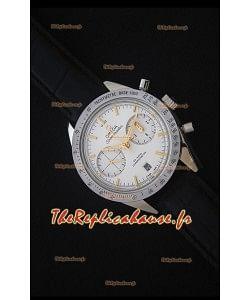 Omega Speedmaster 57 Co-Axial Chronograph - Montre avec Sangle en Cuir