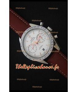 Omega Speedmaster 57 Co-Axial Chronograph Watch, Sangle en Cuir Marron