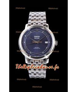 Omega De Ville Prestige Co-Axial 36.8MM Blue Dial 1:1 Swiss Mirror Replica Watch