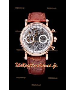 Montre chronographe squelette Patek Philippe Complications en or rose