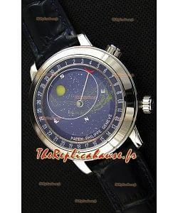 Montre Patek Philippe Grand Complication6102P Suisse Celestial Moon Age Cadran bleu Répliquée