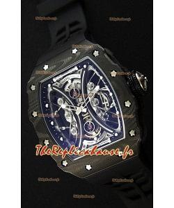 Richard Mille RM53-01 Pablo Mac Donough Boîtier Carbone Noir Montre Réplique Suisse