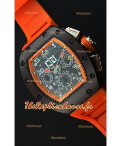 Montre Richard MilleRM011-FM Felipe Massa Étui en céramique d'une seule pièce avec Bracelet Orange