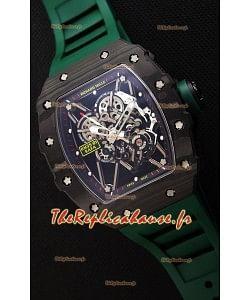 Richard Mille RM35-01 Rafael Nadal Boîtier forgé carbone avec Sangle Verte