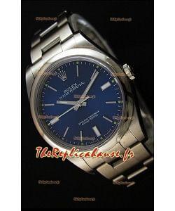 Montre Rolex Oyster Perpetual Mouvement SuisseCal.3132 à Cadran Bleu et Bracelet Oyster — Montre en acier Ultime 904L