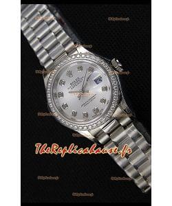 Montre Rolex Datejust Ladies Marqueurs d'Heure en Strass Suisse MouvementCAL.2236 Répliquée à l'identique 1:1