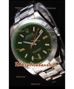 Montre Rolex Milgauss116400M Suisse avec Cadran Noir — Montre ultime en acier904L