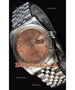 Montre Rolex Datejust 36mmCal.3135 Mouvement Suisse à Cadran Champagne et Bracelet Jubilé Répliquée — Montre en acier ultime 904L