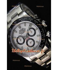 Montre Rolex Cosmograph Daytona116500LN Cadran Blanc Mouvement Original Cal.4130 — Montre en acier ultime904L