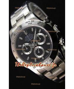 Montre Rolex Cosmograph Daytona 116520 Cadran Noir Mouvement OriginalCal.4130 — Montre en acier ultime 904L