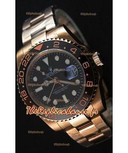 Montre Rolex GMT MastersII 126715CHNR Everose Gold Suisse Répliquée à l'identique 1:1 Mirror