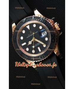 Montre Rolex Yachtmaster116655 Everose 40mm Mouvement SuisseCal.3135 Répliquée à l'identique 1:1 — Montre en acier ultime 904L