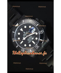 Reproduction de Montre Suisse en PVD Rolex Submariner Blaken