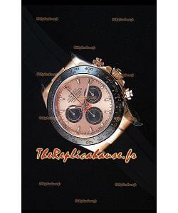 Rolex Daytona 116515 Everose Montre Réplique Miroir 1: 1 avec Cadran/Boîtier en Or Rose