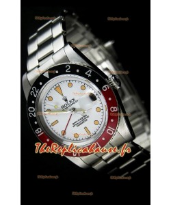 Rolex GMT Master édition Vintage Montre Réplique Suisse avec Cadran Blanc