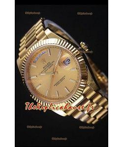 Rolex Day-Date Or Jaune Montre Réplique 40MM Mouvement Suisse 2836-2