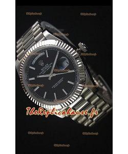 Rolex Day-Date Montre Réplique en Acier Inoxydable 40MM Mouvement Suisse 2836-2
