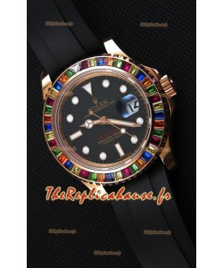 Rolex Yachtmaster 116695 Everose Or rose Diamants Cal.3135 Suisse 1:1 Ultime Acier 904L