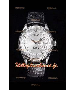 Rolex Cellini Date Ref#50519 Réplique 1:1 Miroir 904L Montre en acier cadran blanc