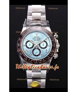 Rolex Daytona 116506 BLEU GLACE ARABE Cadran Chiffres Cal.4130 Mouvement - Ultime montre en acier 904L