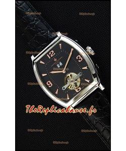 Montre Vacheron Constantin Malte Tourbillon Japonaise à Cadran Noir Réplique