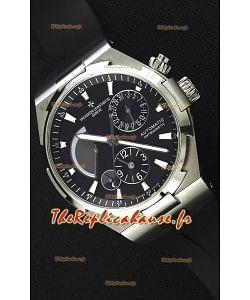 Vacheron Constantin Overseas Dual Time cadran noir Montre Réplique Suisse