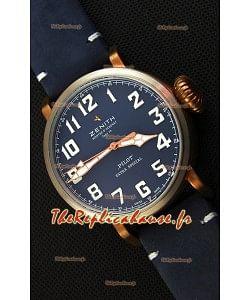 Zenith Pilot Type 20 Extra Special Vintage Style cadran bleu  1:1 Montre Réplique Suisse Miroir
