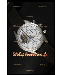 Réplique de montre Zenith El Primero Chronomaster 42mm de réserve de puissance et remontage manuel avec cadran blanc